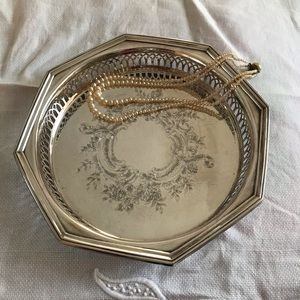 MAKUP TRAY ~ Vintage Silver Tray